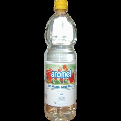 Vinaigre cristal AROMEL, 7°, bouteille de 1l