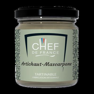 Tartinable artichaut et mascarpone CHEF DE FRANCE, pot de 100g