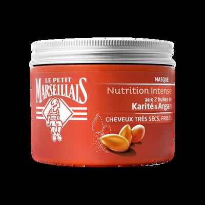 Masque capillaire Nutrition Intense à l'huile d'argan et karité LE PETIT MARSEILLAIS, pot de 300ml