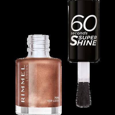 Vernis à ongles 60 seconds super shine colour block 709 top less RIMMEL, nu, 8ml