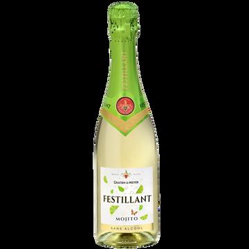 Festillant Vin Mojito Effervescent À Base De Vin Désalcoolisé Festillant, 75cl