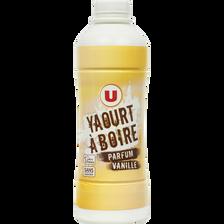 Yaourt à boire sucré parfum vanille U, bouteille de 850g