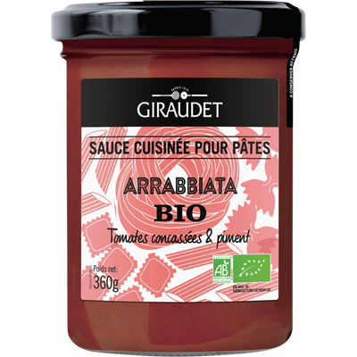 Sauce arrabbiata bio GIRAUDET, bocal 360g