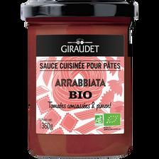 Sauce arrabbiata bio, GIRAUDET, pot de 360g