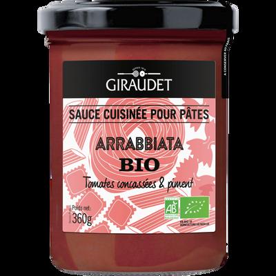 Sauce arrabbiata bio GIRAUDET, pot de 360g