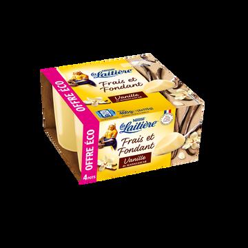 La Laitière Dessert Lacté Crème Vanille La Laitiere 4x115g Offre Économique