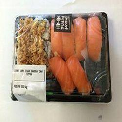 Sushi CRISPY 6 nigiri saumon 6 cripsy tempura 682G