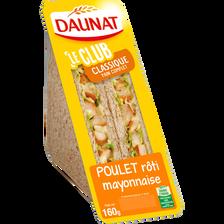 Sandwich triangle poulet rôti et mayonnaise DAUNAT, 160g