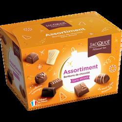 La collection assortiment de chocolats JACQUOT, ballotin de 220g