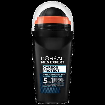 L'Oréal Déodorant Carbon Intense Ice Men Expert, Bille De 50ml