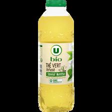 Infusion de thé vert saveur menthe U BIO, bouteille de 1l