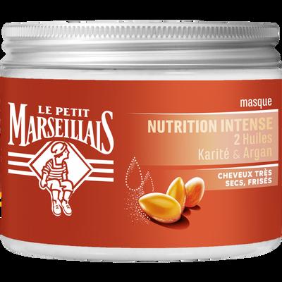 Masque cheveux très secs frisés nutrition intense huiles karité & argan LE PETIT MARSEILLAIS 300ml