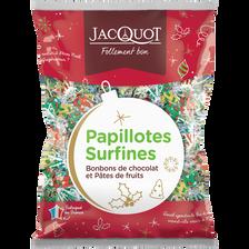 Jacquot Papillotes Surfines Pâtes De Fruits Et Bonbons Chocolat , Sachet De 470g