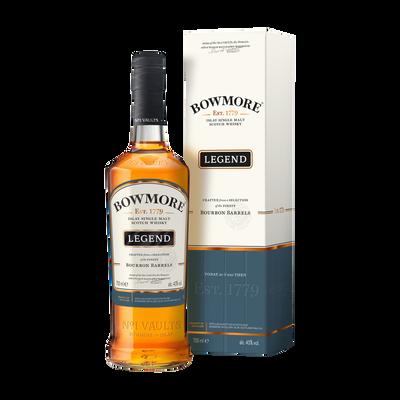 Single malt Scotch whisky BOWMORE LEGEND, 40°, boîte métal bouteille de 70cl