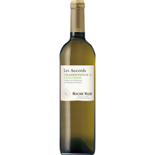 Roche Mazet Vin Blanc Pays D'oc Chardonnay Viognier Les Accords , Millésime 2017, 75cl