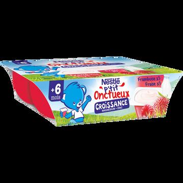 Nestlé P'tit Onctueux Croissance Fraise/framboise Dès 6 Mois Nestle, 6x60g