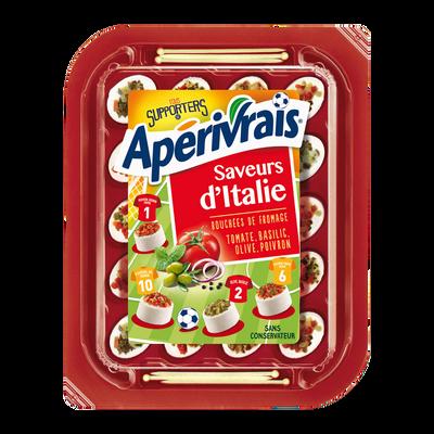 Fromage pasteurisé saveurs d Italie 31% de matière grasse APERIVRAIS,100g
