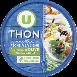 Thon entier à l'huile d'olive pêche ligne U, boîte 1/5, 160g