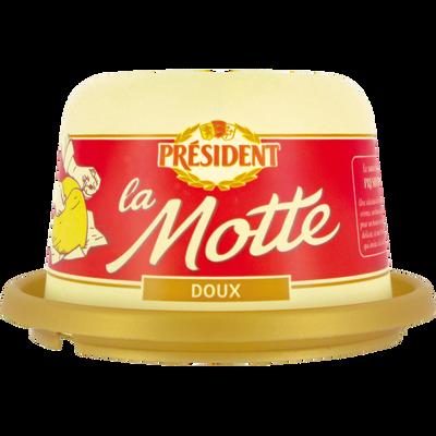 Beurre doux PRESIDENT, 82% de MG, motte de 250g