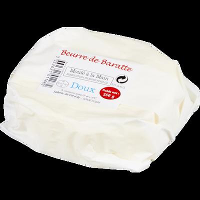 Beurre de Baratte doux moulé à la main, 82% de MG, 250g