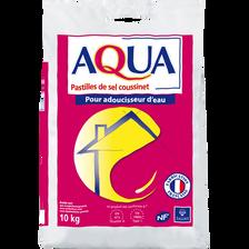 Pastilles pour adoucisseur d'eau AQUA, SALIN DU MIDI sac de 10kg