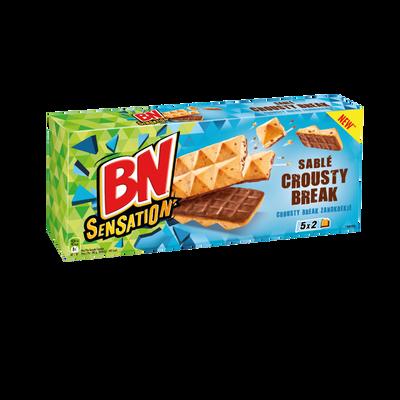 Biscuits sablé au chocolat au lait crousty break BN, 195g