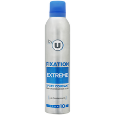 Spray coiffant fixation extrême By U, bombe 300ml