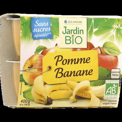 Dessert purée de pommes / bananes bio JARDIN BIO coupel 400g