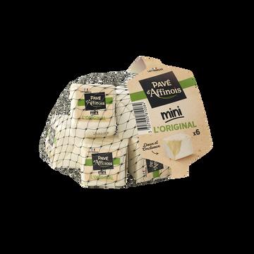 Pavé d'Affinois Fromage Pasteurisé Mini L'original Pave D'affinois, 31%mg, X6 Soit 180g