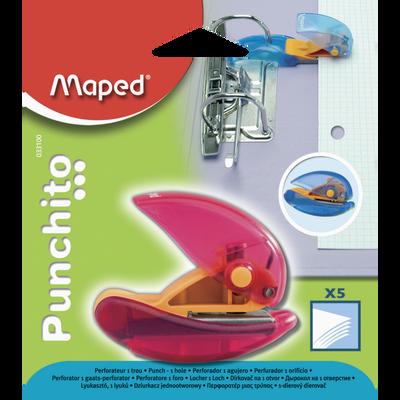 Perforateur Punchito MAPED, 1 trou, capacité de 5 feuilles