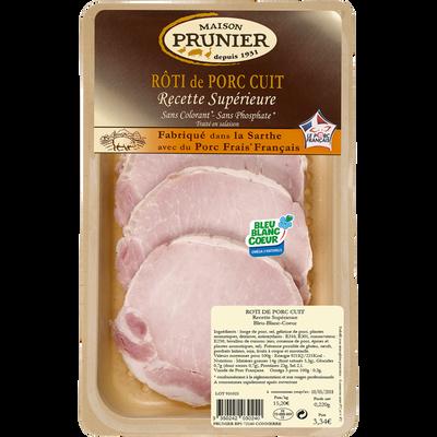 Rôti de porc cuit Bleu Blanc Coeur PRUNIER, x4