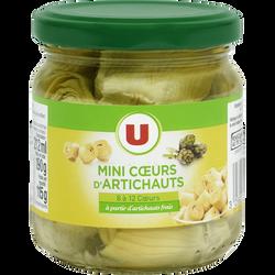 Mini coeurs d'artichauts U, boîte de 212ml, 115g