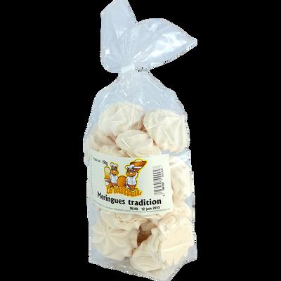 Meringues vanille LES ECUREUILS DU LANGUEDOC, paquet de 150g