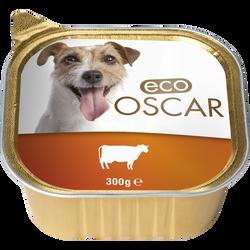 Pâté au boeuf pour chien eco oscar, barquette de 300g