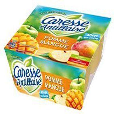 Compote pomme /mangue X 4,CARESSE ANTILLAISE,400g