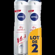 Nivea Déodorant Pour Femme Dry Confort Nivea, 2x200ml
