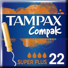 Tampon compak super plus avec applicateur protective skirt TAMPAX, x22