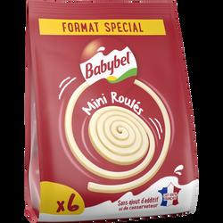 Fromage pasteurisé 18,5% matière grasse BABYBEL MINI ROLLS, 6 portionssoit 102g