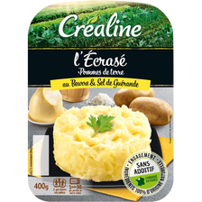 Ecrasé de pomme de terre au beurre, CREALINE, barquette, 2x200g