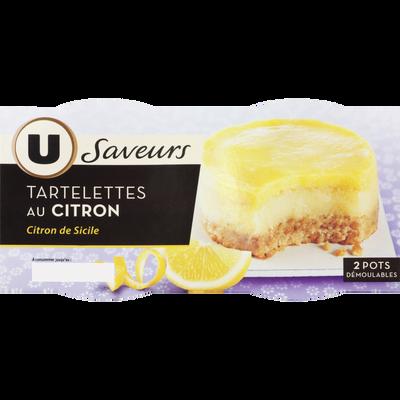 Tartelettes au citron de Sicile U SAVEURS, 2x80g