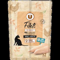 Filets de poulet haute nutrition pour chats U 25g
