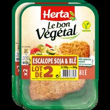 Herta Escalope Soja & Blé Bon Végétal  2x180g Soit 360g