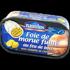 Foie de morue fumé au citron NAUTILUS, 120g