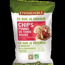 Chips pomme de terre rouge Pérou Bio ETHIQUABLE, 100g