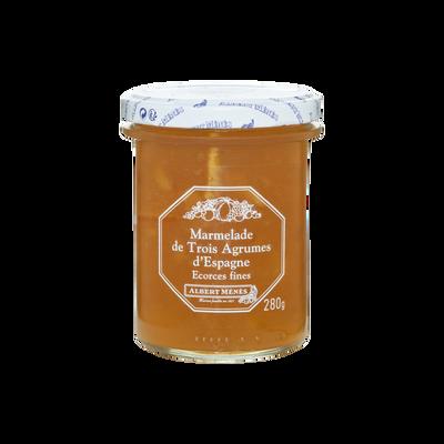 Marmelade de 3 agrumes d'Espagne écorces fines ALBERT MENES, 280g