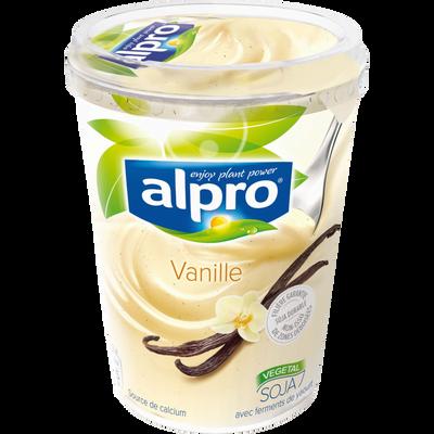 Yaourt au soja parfum vanille ALPRO, pot de 500g