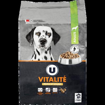 Croquettes premium pour chien vitalité riches en poulet U, paquete de10kg