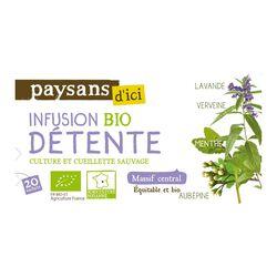 Infusion bio détente PAYSANS D'ICI 30G