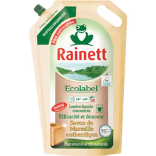 Lessive liquide concentrée savon Marseille RAINETT Ecolabel, rechargede 30 lavages, 1,98 litre