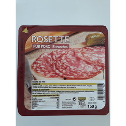 Rosette tranchée pur porc,150g